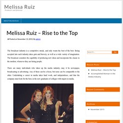 Melissa Ruiz - Rise to the Top