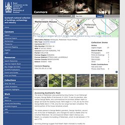 Site Record for Mellerstain House Whitesyde; Mellerstain House PoliciesDetails Details