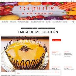 TARTA DE MELOCOTON - ¡¡ Realmente deliciosa !!