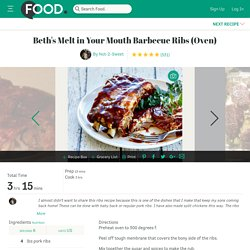 Melt In Your Mouth BBQ Ribs Recipe