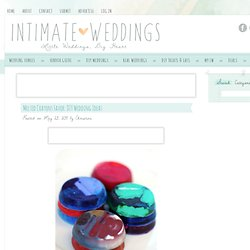 Melted Crayons Favor: DIY Wedding Ideas