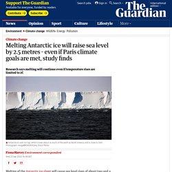Melting Antarctic ice will raise sea level by 2.5 metres – even if Paris climate goals are met, study finds