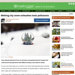 Melting City Snow Unleashes Toxic Pollutants