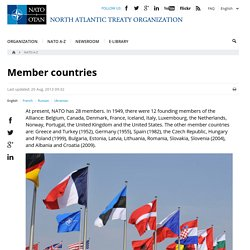NATO - Topic: Member countries