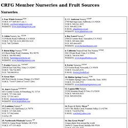 Member Nurseries and Fruit Sources