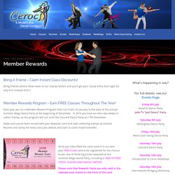 Member Rewards - Ceroc and Modern Jive Dance Company