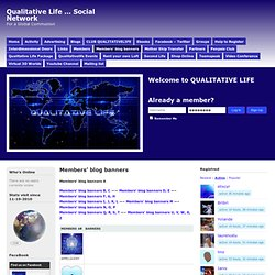Members' blog banners