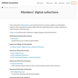 AMICAL - Members' digital collections - AMICAL Consortium