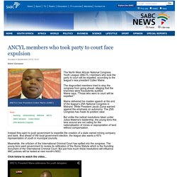 ANCYL members who took party to court face expulsion:Sunday 6 September 2015