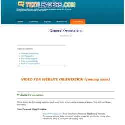 Training Module 2 - General Orientation