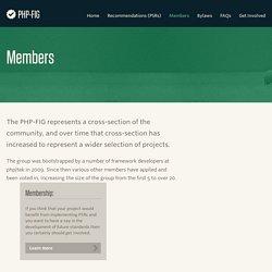 Members - PHP-FIG