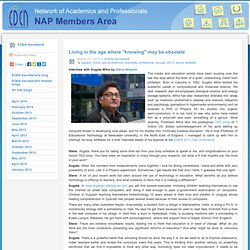 "NAP Members Area: EDEN Secretariat's blog: Living in the age where ""knowing"" may be obsolete"