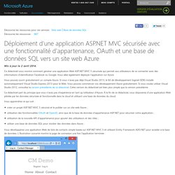 Deploy a Secure ASP.NET MVC 5 app with Membership, OAuth, and SQL Database to an Azure Website
