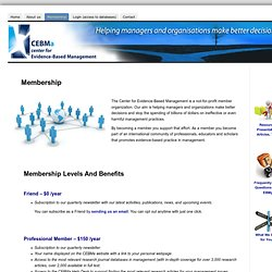 Membership « Center for Evidence Based Management