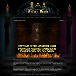 Hermetic Order of the Golden Dawn - Membership Information