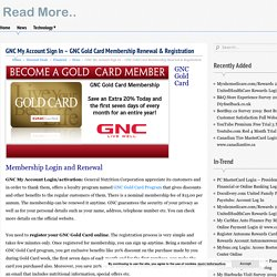 GNC My Account Sign In - GNC Gold Card Membership Renewal & Registration