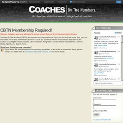 Coach Rankings « Coaches | By The Numbers.