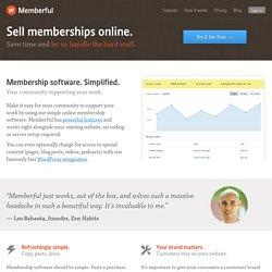 Membership software. Simplified.