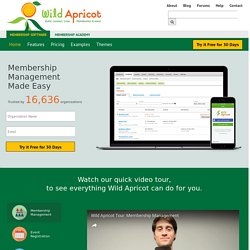 Membership Software | Wild Apricot - Easy Membership Management