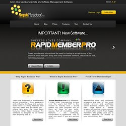 The Best Membership Software Online... Rapid Residual Pro -