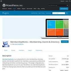 MembershipWorks Membership, Event & Directory System — WordPress Plugins