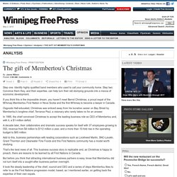 The gift of Membertou's Christmas