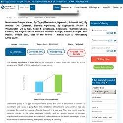 Membrane Pumps Market Forecast, Report, Share, Analysis 2016-2028