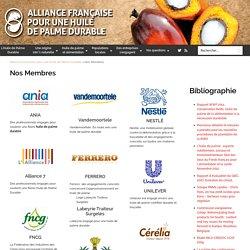Les Membres : Alliance Française pour une Huile de Palme Durable