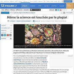 Même la science est touchée par le plagiat