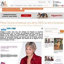 Même Simone, la fameuse voix de la SNCF, se met à la lecture