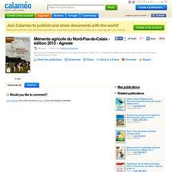 MAAF - 2014 - Mémento agricole du Nord-Pas-de-Calais - édition 2013 - Agreste