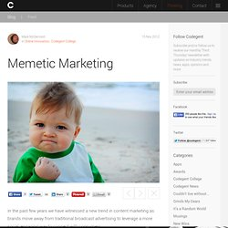 Memetic Marketing : Blog : Codegent