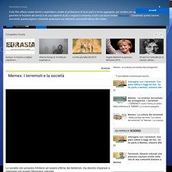 Memex: I terremoti e la società