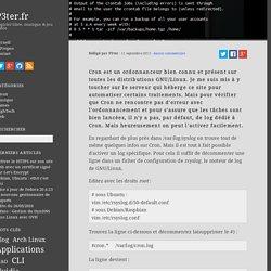 Mémo : Activer les logs de Cron - P3ter.fr