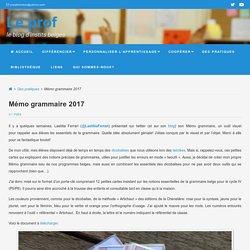 Mémo grammaire 2017 - Le prof