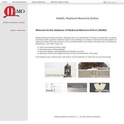 MeMO - MeMO, Medieval Memoria Online