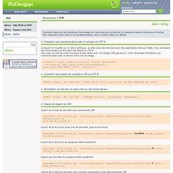 Mémo - MySql, PHP, RvDevsign