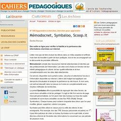 Mémodocnet, Symbaloo, Scoop.it