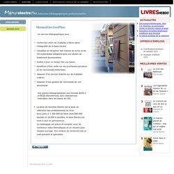 MémoElectre Plus, service de référence des CDI pour trouver, s'informer et récupérer