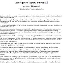 Le Yoga de l'élève (mémoire Lassy / Auriol)