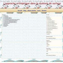 Mémoire - L'approche orthoptique dans la dyslexie de surface