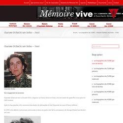 Mémoire Vive – Charlotte DUDACH, née Delbo – 31601