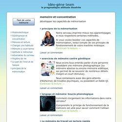 Mémoire & Concentration