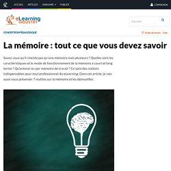 La mémoire : tout ce que vous devez savoir - eLearning Industry
