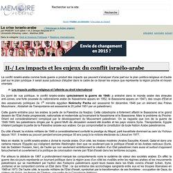 La crise israelo-arabe - FADESP/ SJ4 option 1 et 2 Groupe d'exposé N°11