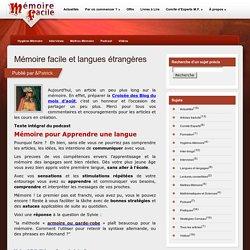 Mémoire facile et langues étrangères