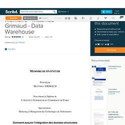 Memoire - Matthieu Grimaud - Data Warehouse