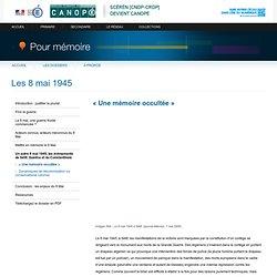 « Une mémoire occultée »- Pour mémoire - CNDP