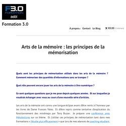 Arts de la mémoire : les principes de la mémorisation – Formation 3.0