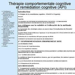Mémoire DEA psycho cognitive 2005